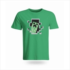 Minecraft Creeper Window Cotton T-Shirt