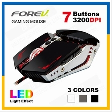 FOREV 7 Button 3200 DPI LED Gaming Mouse Wired USB FV-ST5