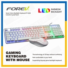 [Bundle] FOREV LED Gaming Keyboard 7 Backlight with Mouse FV-Q309A