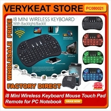 i8 Mini Wireless Keyboard Air Mouse Touch Pad Remote Backlight Backlit