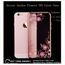 APPLE IPHONE 6 6S 7 PLUS SECRET GARDEN DIAMOND TPU Case