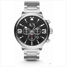 A|X ARMANI EXCHANGE AX1369 Men's Atlc Chronograph SS Bracelet Black