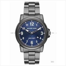 MICHAEL KORS MK8499 Paxton Men's Date SS Bracelet Blue Gunmetal