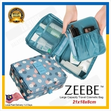 ZEEBE Multi-function Makeup Large Cosmetic Bag Travel Kit Organizer
