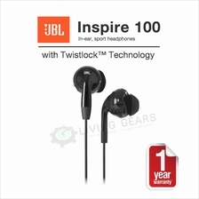 JBL Inspire 100 In-Ear Sport Gym Sweatproof Headphones - Original