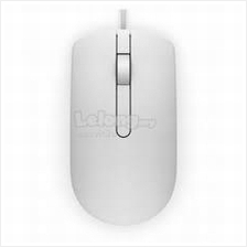 DELL WIRED OPTICAL MOUSE WHITE (MS116).