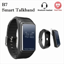 B7 Heart Rate Monitor Bluetooth Headset Smart Talkband Watch (Black)