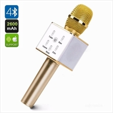 Q7 Wireless Bluetooth Karaoke Microphone & HiFi Speaker (Gold)