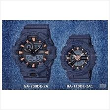 CASIO GA-700DE-2A BA-110DE-2A1 G-SHOCK & Baby-G denim'd color resin SC