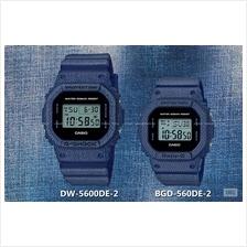 CASIO DW-5600DE-2 BGD-560DE-2 G-SHOCK & Baby-G denim'd color resin SC