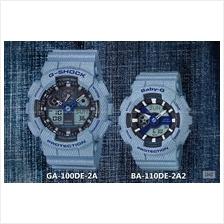 CASIO GA-100DE-2A BA-110DE-2A2 G-SHOCK & Baby-G denim'd color resin SC