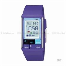 CASIO LDF-52-6A Poptone square block puzzles resin strap watch purple