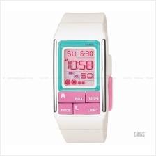 CASIO LDF-51-7C Poptone square block puzzles resin strap watch white