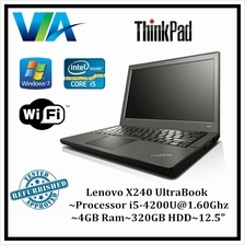 Refurb Laptop Lenovo X240 Ultrabook~Core i5~8Gb~128Gb SSD~W10