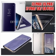 Samsung Note 8/ J3 J5 J7Pro/ S8/ S8PLUS Clear View Standable Flip Case