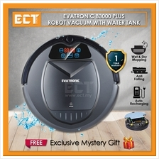 Evatronic B3000 Plus Multifunctional Robot Vacuum Cleaner with Water Tank,Wet