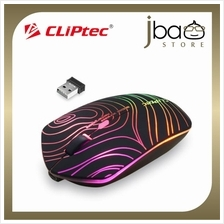 CLiPtec GEOPOLY 1600dpi Illuminated Rechargeable Wireless Mouse RZS610 (Black)