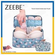 ZEEBE Portable Protect Bra Underwear Organizer Bag Waterproof Travel