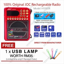 JOC Rechargeable Digital Display USB Music MP3 Player FM Radio H111SUR