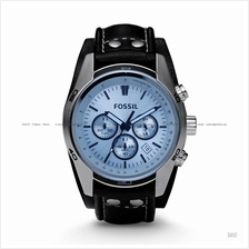 FOSSIL CH2564 Men's Coachman Chronograph Leather Strap Blue Black
