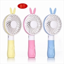USB Rechargeable Mini Handheld Fan Cute Bunny Ears 1200mAh Battery