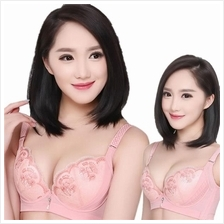 [CLEARANCE SALES] Premium Embroidery Gather Push Up Bra F037