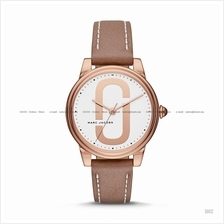 MARC BY MARC JACOBS MJ1579 Corie 3-hand Leather Strap Brown Rose Gold