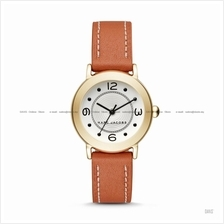 MARC BY MARC JACOBS MJ1576 Riley 3-hand Leather Strap Tan Gold