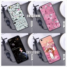 VIVO V5/ V5S Trendy Cartoon TPU Case with Strap