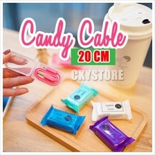 20cm Candy Design Charging MICROUSB/ Lightning Iphone Short Cable