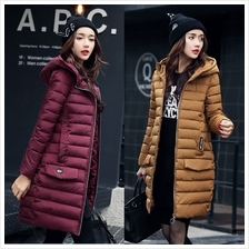 DOLLYPOODY Hooded Thicken Middle Length Winter Coat Jacket