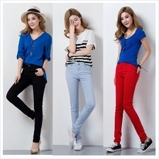 DOLLYPOODY Slim Fit Candy Colour Long Pants (20 Colours)