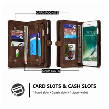 iphone X 6 6S 7 8 S8 PLUS Samsung S7 EDGE Luxury Wallet case - 008