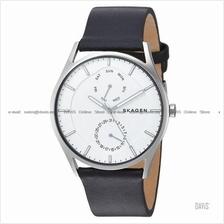 SKAGEN SKW6382 Men's Holst Day-Date Interchange Leather White Black
