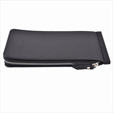 Thin Long Zipper Leather Wallet Credit Card Holder