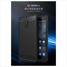 Nokia 3 5 6 8 - Silicone Soft TPU Rugged Armor Case Cover Casing