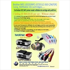 Brother MFC J3520/MFC J3720 (LC-563 C/M/Y/K) Refillable ink cartridges