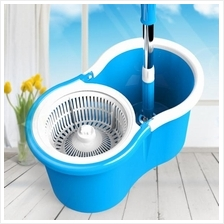 360 Rotating Plastic Spin Mop + 2Mop Cloth