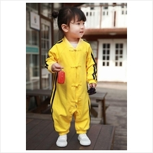 95% Cotton Cute baby Bruce Lee Style Jumpsuit)