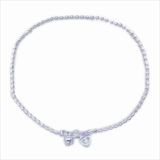 Elfi Genuine Solid Silver Moon Carved Anklet SA-6M