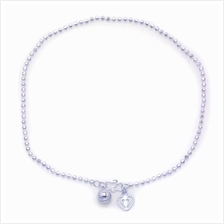 Elfi 925 Genuine Solid Silver Classic Bead Anklet SA-5M