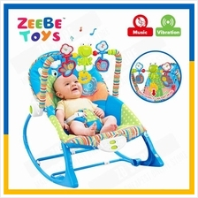 ZEEBE Baby Rocker Bouncer New Born Toddler Music Chair wt Safety Belt