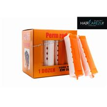 EW08 Hair Curlers Perm Rod (Orange-White) - 23mm (1doz)