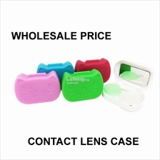 Kitty Face Contact Lens Case with Mirror