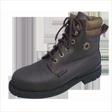 Safety Shoes Black Hammer Men High Cut Lace Up Brown BH4654
