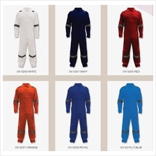 Safety Apparel Coverall 100% Cotton 200Gsm 6Reflectors NFR OV02XX