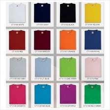 T Shirt Round Neck Comfy Cotton 160Gsm Plain Unisex CT51XX