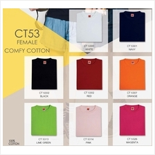 T Shirt Round Neck Comfy Cotton 160Gsm Plain Female CT53XX