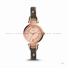 FOSSIL ES3862 Women's Georgia 3-hand Leather Strap Rose Gold Grey