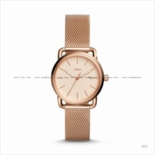 FOSSIL ES4333 Women's The Commuter 3-hand Date Mesh Bracelet Rose Gold